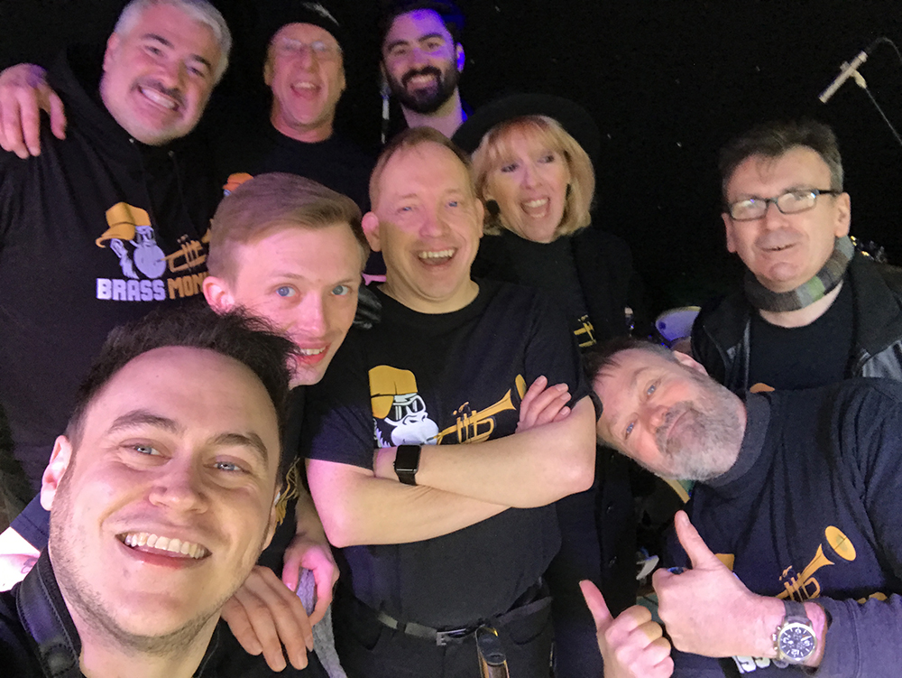 Brass Monkees Nantwich Jazz Festival 2018 Crowd Selfie 2