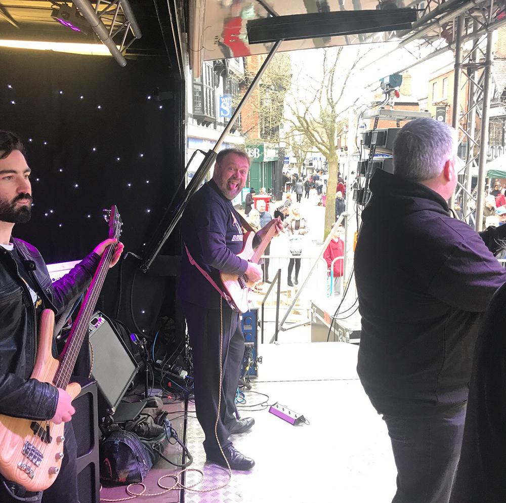 Brass Monkees Nantwich Jazz Festival 2018 Happy Guitarist
