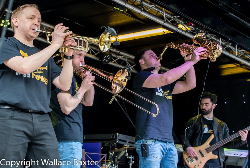 Brass Monkees Nantwich Jazz Festival 2018 Brass Section 2