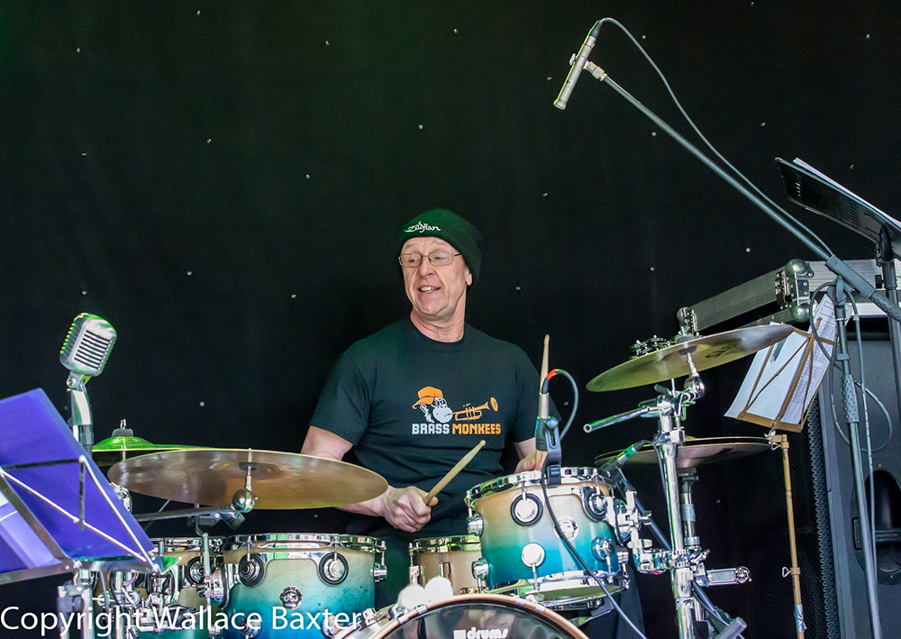 Brass Monkees Nantwich Jazz Festival 2018 Drummer