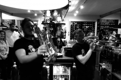 Brass Monkees Brass Section Behind Bar